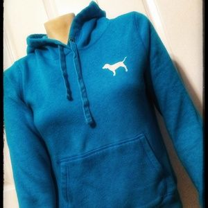 Pink- Victoria's Secret blue hoodie size small